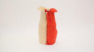 沉重的瓶子也能用風呂敷包起來攜帶!「組合包法」