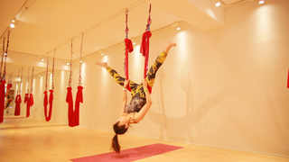 在時下正夯的空中瑜珈「avity 代官山」體驗第一次無重力運動!