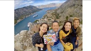モンテネグロのコトルを一望する絶景スポットに不思議な青の洞窟をまわる4人旅!