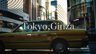 【4K24fps】Tokyo,Ginza HLG PP10【SONY A7iii】【Color Grading】