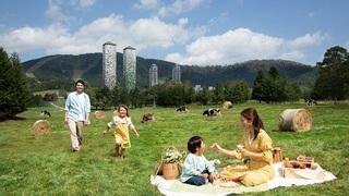 100ヘクタールの広大なファームエリアで乳製品を味わう  「ファームピクニック」をスタート