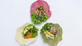 在代官山的時尚咖啡廳「Why Juice?」中發現富含纖維的蔬菜捲