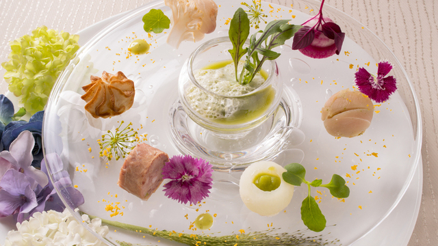 春野菜と花のスペシャルコース