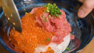 ぷちぷちの新鮮ないくらがたっぷりと堪能できる、絶品海鮮丼屋「波の」