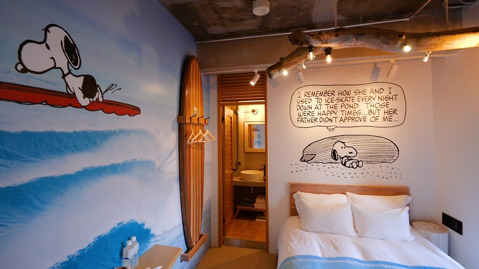「PEANUTS HOTEL」の5Fのお部屋