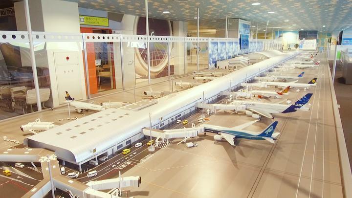関西国際空港「スカイミュージアム」のジオラマ