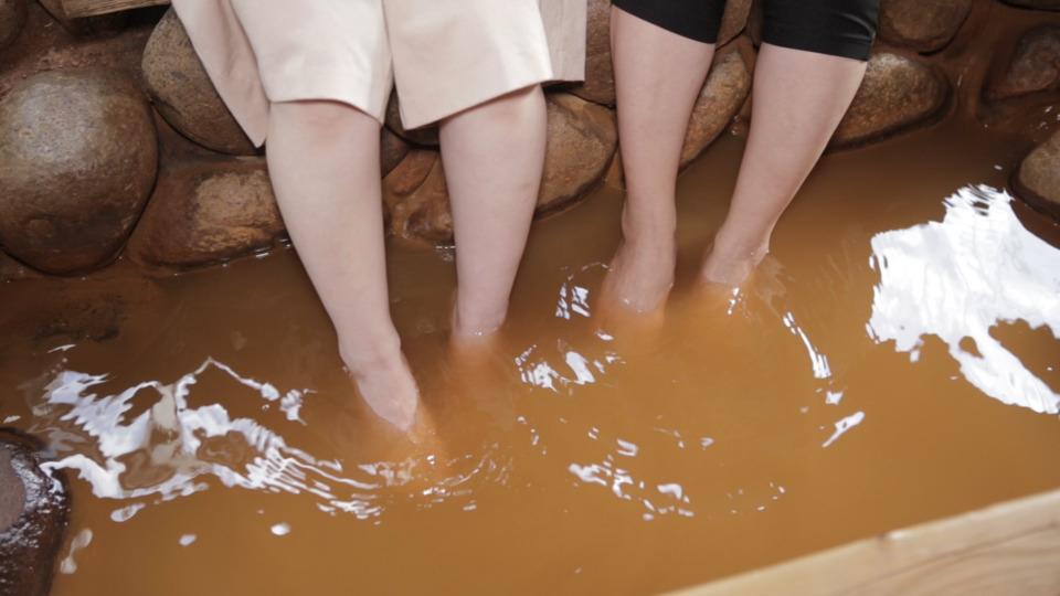 有馬温泉「金の湯」足湯