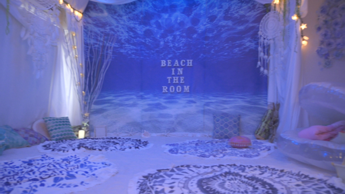 Beach in the room
