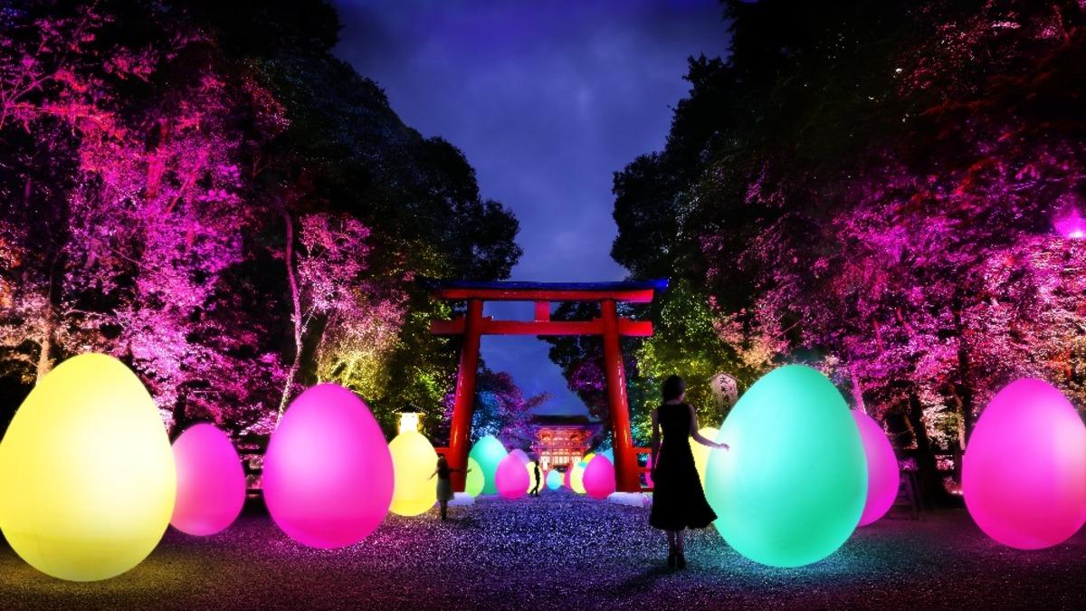 下鴨神社 糺の森の光の祭 Art by teamLab – TOKIO インカラミ