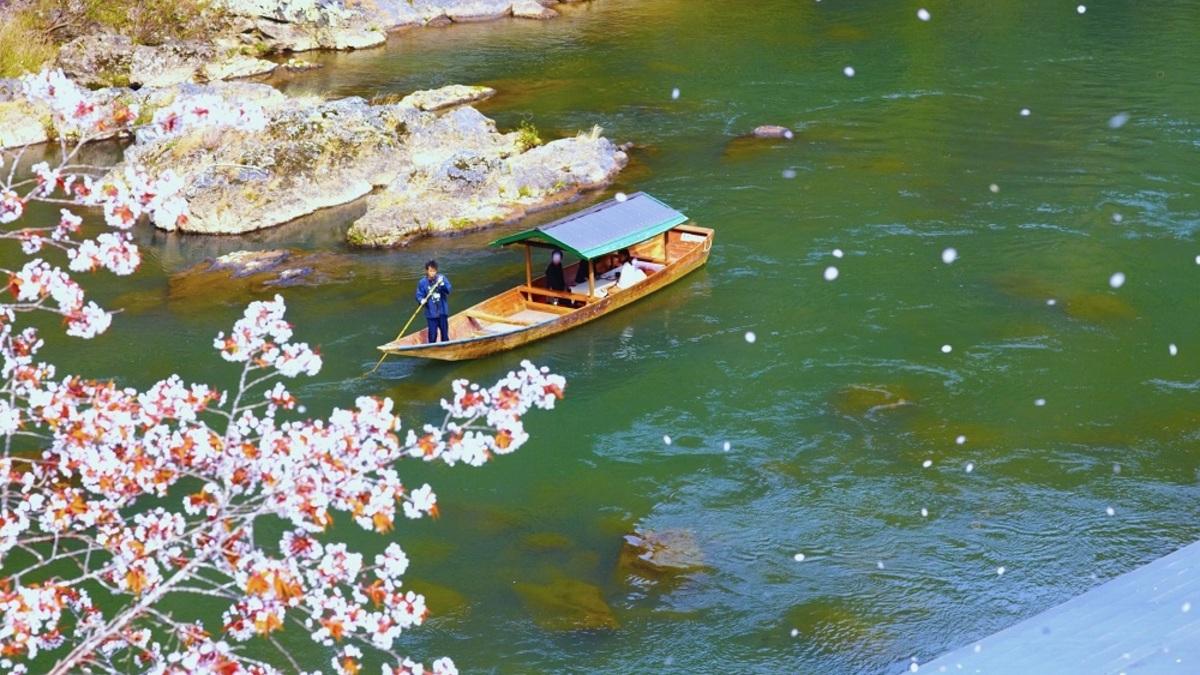 奥嵐山の花見舟