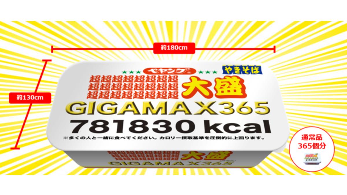 「ペヤングソースやきそば超∞超大盛GIGAMAX365」