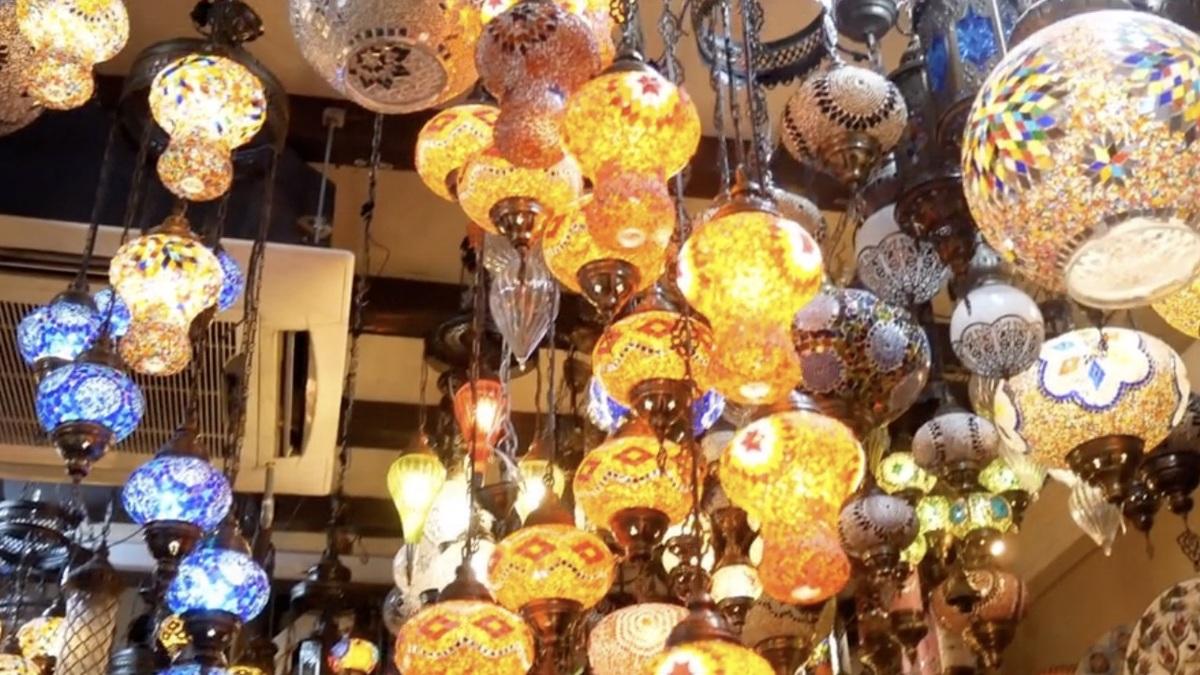 トルコ風ランプのお店